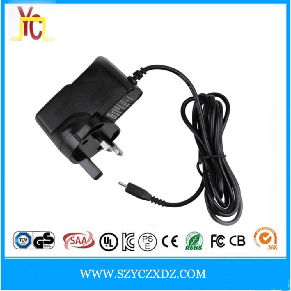 Free Sample AC/DC 9V 1A power adapter USB wall charger