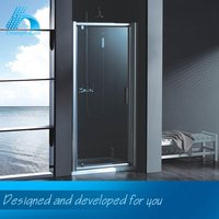 Direct Price High Quality Professional Design Aluminium Profile Glass Frame Pivot Shower Room