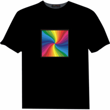 wholesale 100% cotton Short sleeve customized led black t-shirt