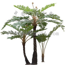 20150 indoor or outdoor artificial big fern tree, artificial fern plants for dinosaur park decoration manufactory