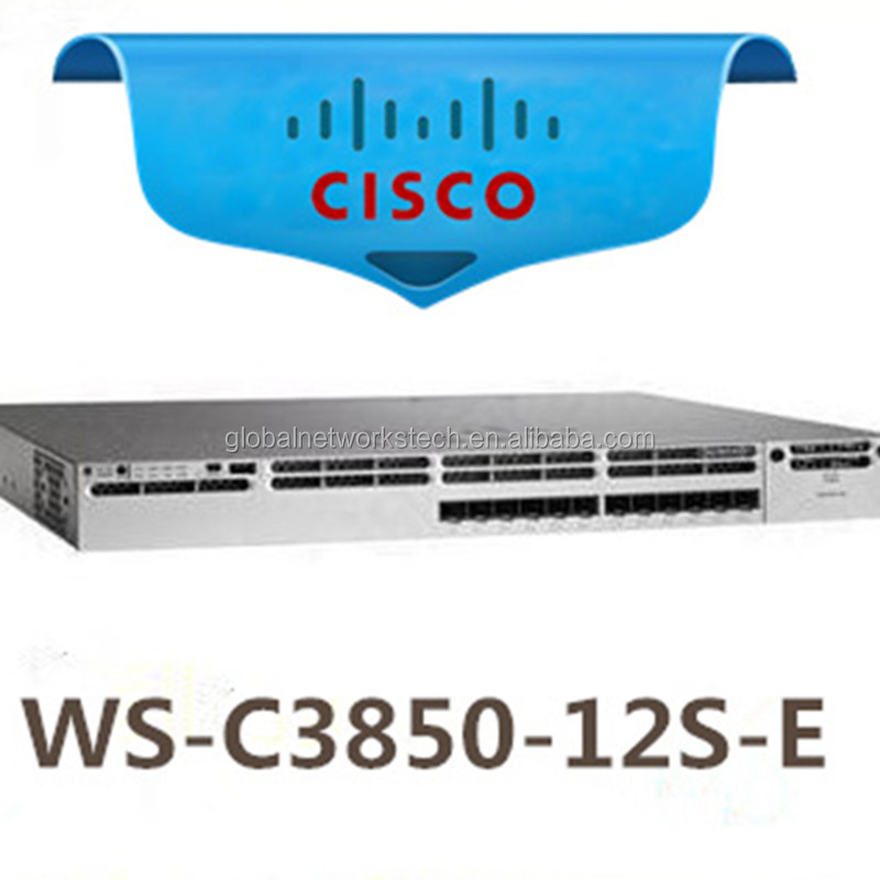 IP Service Catalyst 3850 12 SFP Fibric Ports Layer 3 Managed Network Hub Switches WS-C3850-12S-E