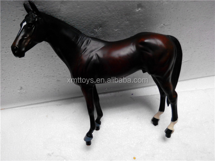 new home decoration Black Resin Horse
