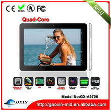 High quality 9.7 inch allwinner a31 tablet pc quad core tablet pc 2GB RAM in low price GX-A9706
