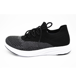 Breathable women's slip on knit elastic casual shoes women