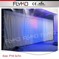 Picture,Text,Message,Video Display Function 3x7m p18 indoor led video wall
