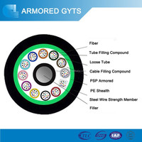 120 core g652d non-metallic strength member duct/ aerial cable GYTS