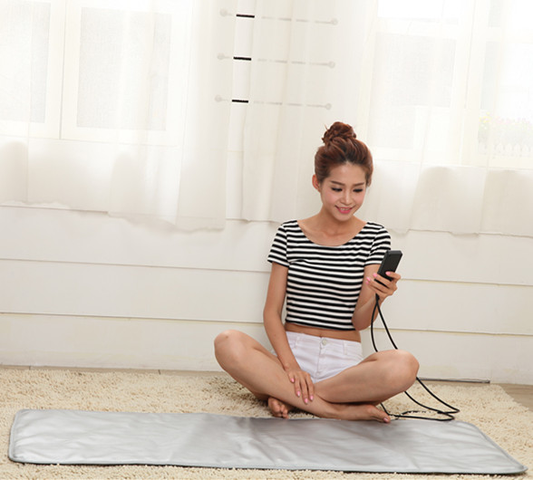 Far infrared yoga heating mat for massager bed
