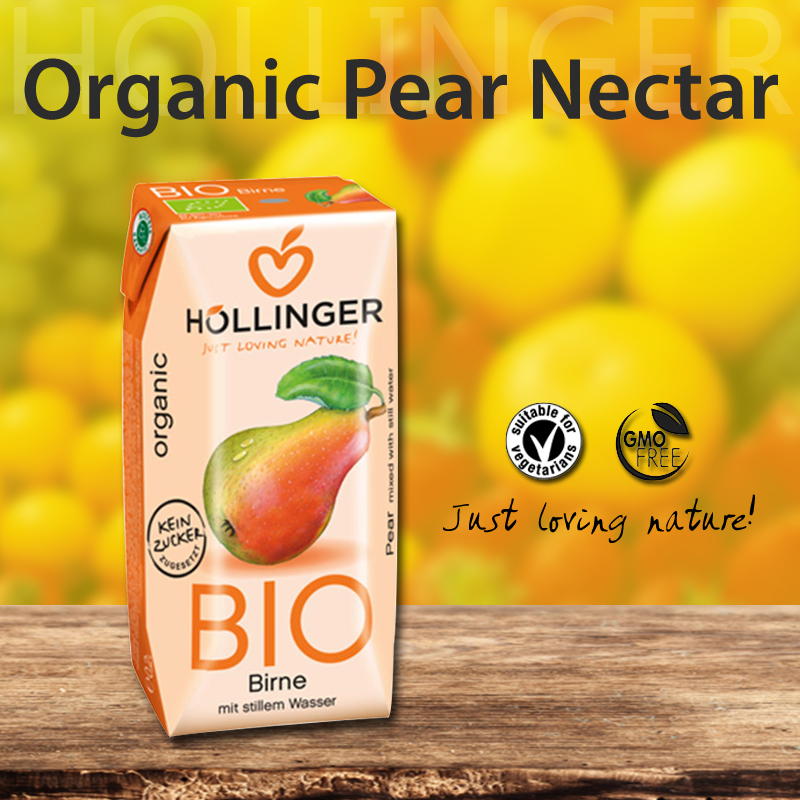 Premium Organic Cloudy Pear Nectar 200ml Made In Austria