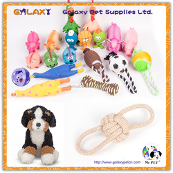 pet toy accessory dog training pet product ; TPR dog ball chew and rope toy ; plush pet dog toy