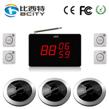 Wireless calling number system electronic digits display receiver restaurant service