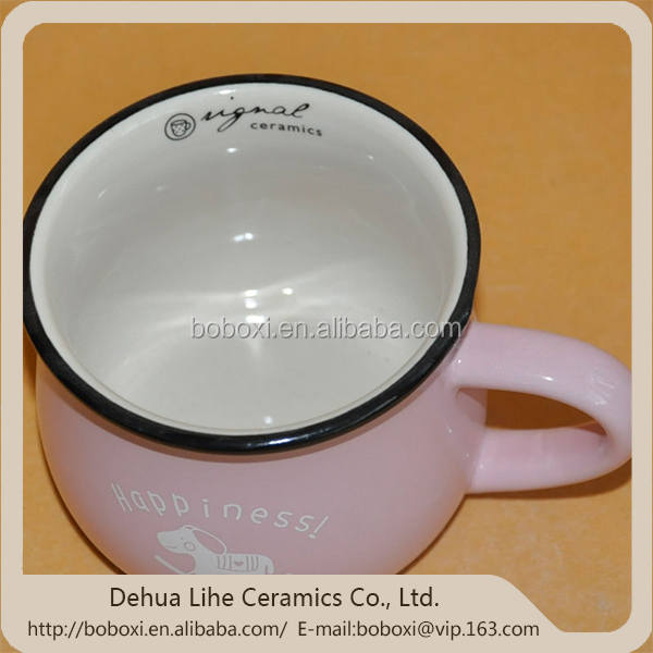 China supplier paintable ceramics mug