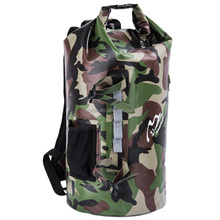 35L Waterproof Jungle Camouflage Dry Bag backpack with pocket round frame