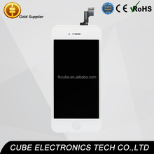 CUBE Stock!!! For White IPhone 5C 5S 5G LCD Display Screen + Touch Digitizer +Frame Assembly