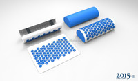 Deluxe Back Spike Massage Mat, back massage with spike pillow and foam roller, three in one