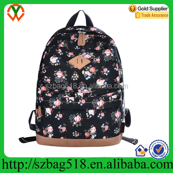 Canvas Cute Printed Backpack for Teen Girls