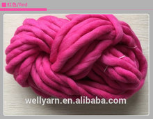 Super bulky wool roving merino wool material ball yarn for capet