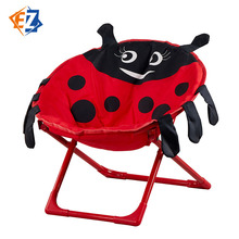 Green Material Children Animal Cartoon Moon Chair Small Round Chair With Tampons
