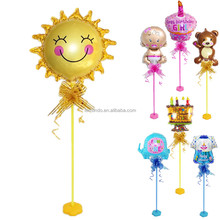 Baby Sunflower Table Base & Balloon Stick Stand Wedding Birthday Party Decoration Table Mini Balloons