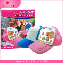 DIY Kids Fashion Educational Toys Gifts Design Painting Cap Sets