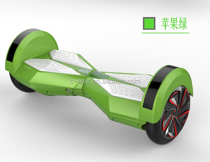 Cool man in street smart balance wheel Lamborghini walking scooter for adults battery powered skateboards