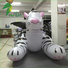 Inflatable white tiger / 3m long inflatable cartoon model character doll