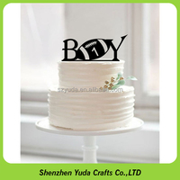 Celebrating party used acrylic new baby cake topper happy birthday topper display