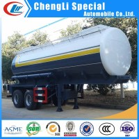 3 Axles Sulfuric Acid Tanker Semi