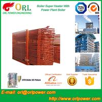 power plant CFB boiler SA213TP304 alloy steel floor standing boiler super heater SGS