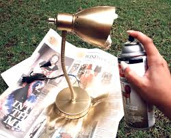 metallic gold paint spray