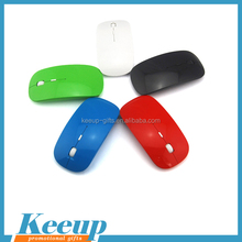 Keeup custom logo slim fancy wireless computer mouse for promotion gifts