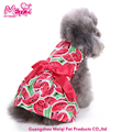Cute Bowtie Dog Dress Summer Watermelon Printing Puppy Clothes Dress
