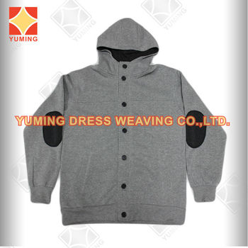 2014 Wholesale Plain Grey melange Color Plus Size Cotton Stretch Casual Men Winter Jackets