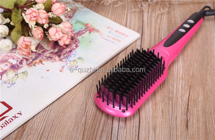 2017 New Design MCH heater Tourmaline plate led negative ion hair straightening brush