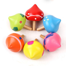 China market top selling wooden toys wholesale Magical spinning top colorful ECO friendly paint gyro wheel toy for kids