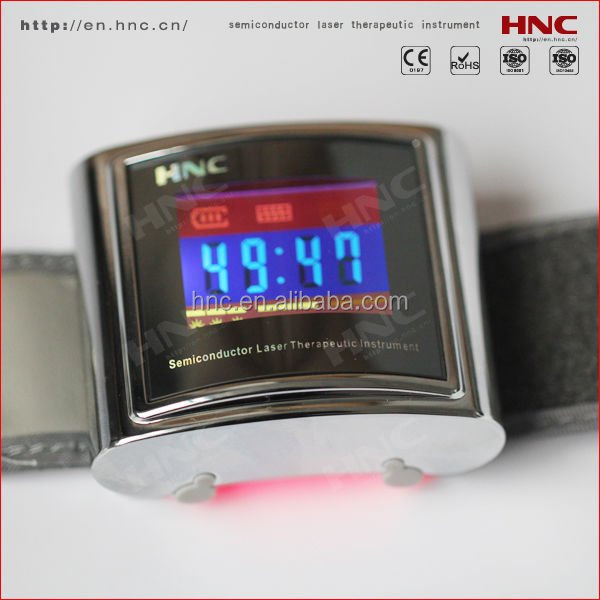 Diabetic and Hypertension treatment 650nm Low Level Laser Wrist Watch