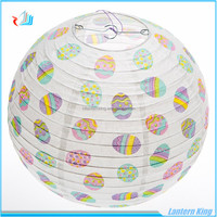 eggs printed paper lanterns for Easter decoration