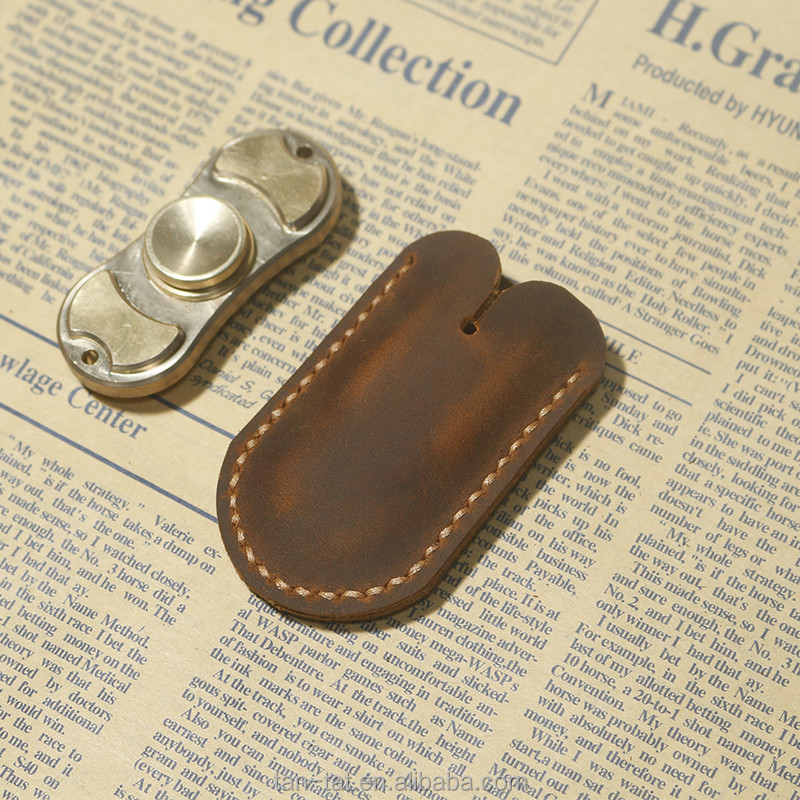 Genunine Leather Protective Pouch Bag for Hand Spinner Toys