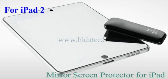 accessories for ipad2 2, for iPad 2 mirror screen protector, mirror screen protector for ipad 2