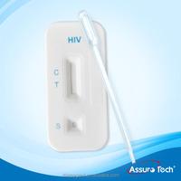 CE standard HIV 1+0 /2 triline rapid test kit