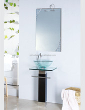 bathroom tempered glass hand wash basin price