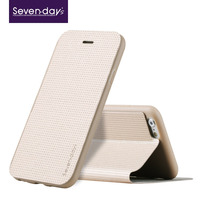 Seven-day's high quality 2015 pu leather mobile phone case for iphone 6S