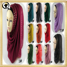 Fashion women's sequins scarf high quality Turkish Indonesian muslim hijab for women bling headwear girl's cap 24 colors