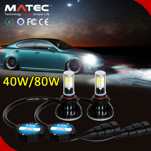 Powerful Car LED Headlight Bulbs H11 H4 H7 HB3 9004 Warning Canceler Head 40W 4000LM LED Lights with Can Bus H7