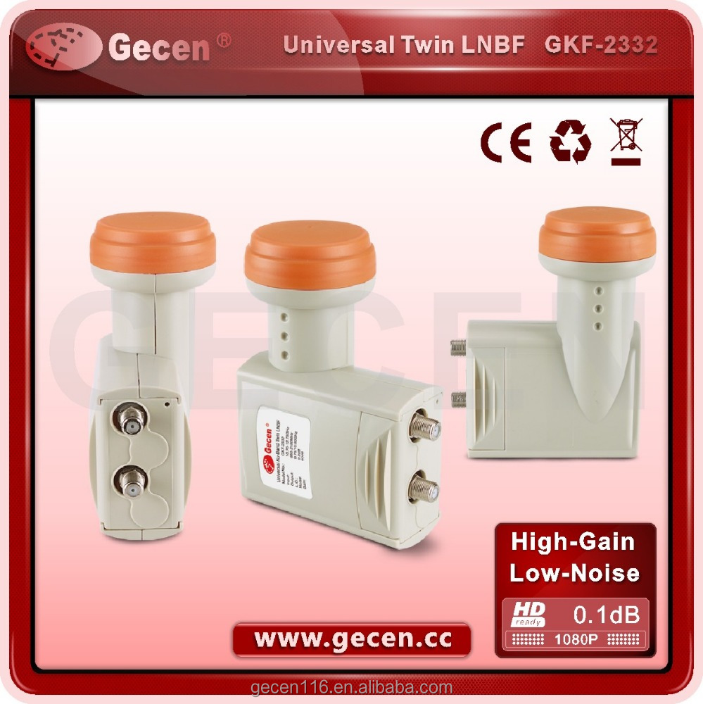lnb hot sale good quality universal satellite dish ku band lnb twin lnb GKF-2332