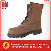 SLS-R31C8 Brown crazy horse Leather Safety Shoes