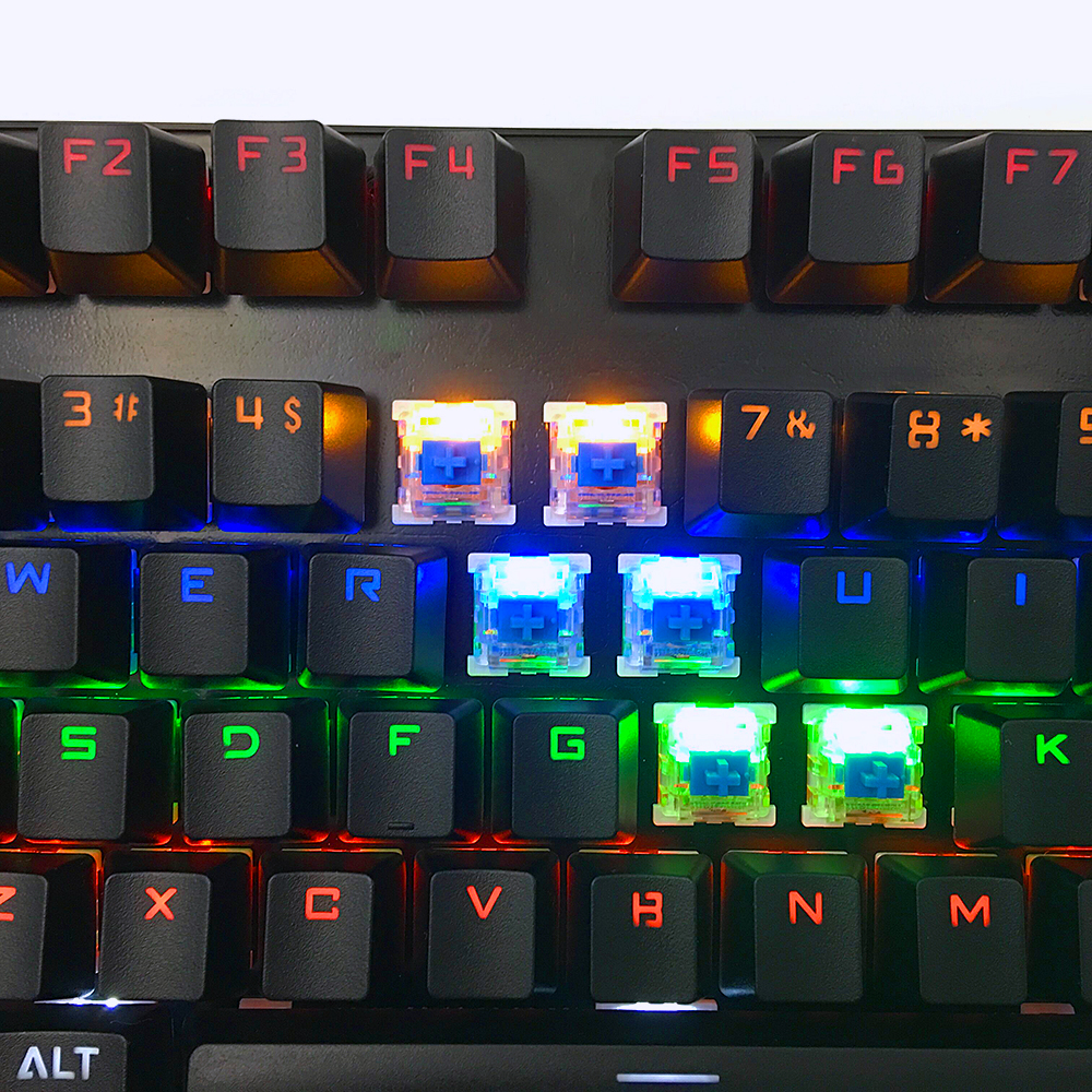 high quality led 87 keys mechanical keyboard