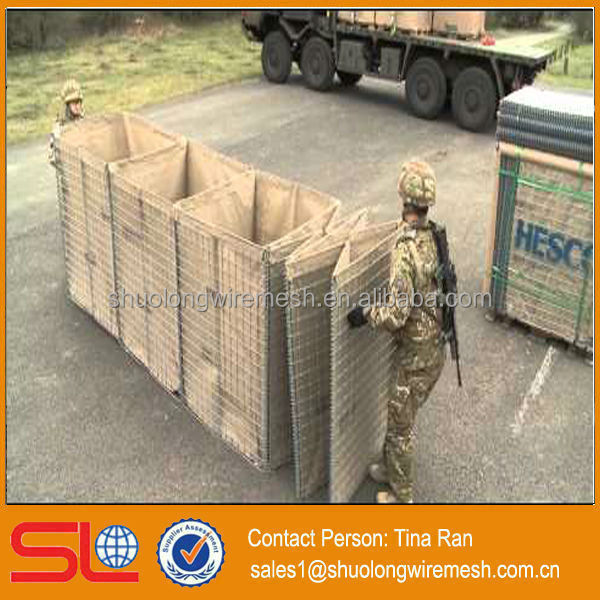 Hebei BV Certificated manufactory&exporter military wall Hesco Bastion Concertainer