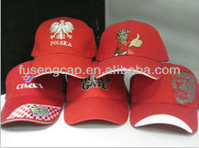 custom golf cap red color with embroidery