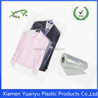 dry cleaning bag for packaging clothes on roll