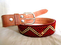 Excellent Moroccan Handcrafted Genuine Leather And Kilim Rug Unisex Belts